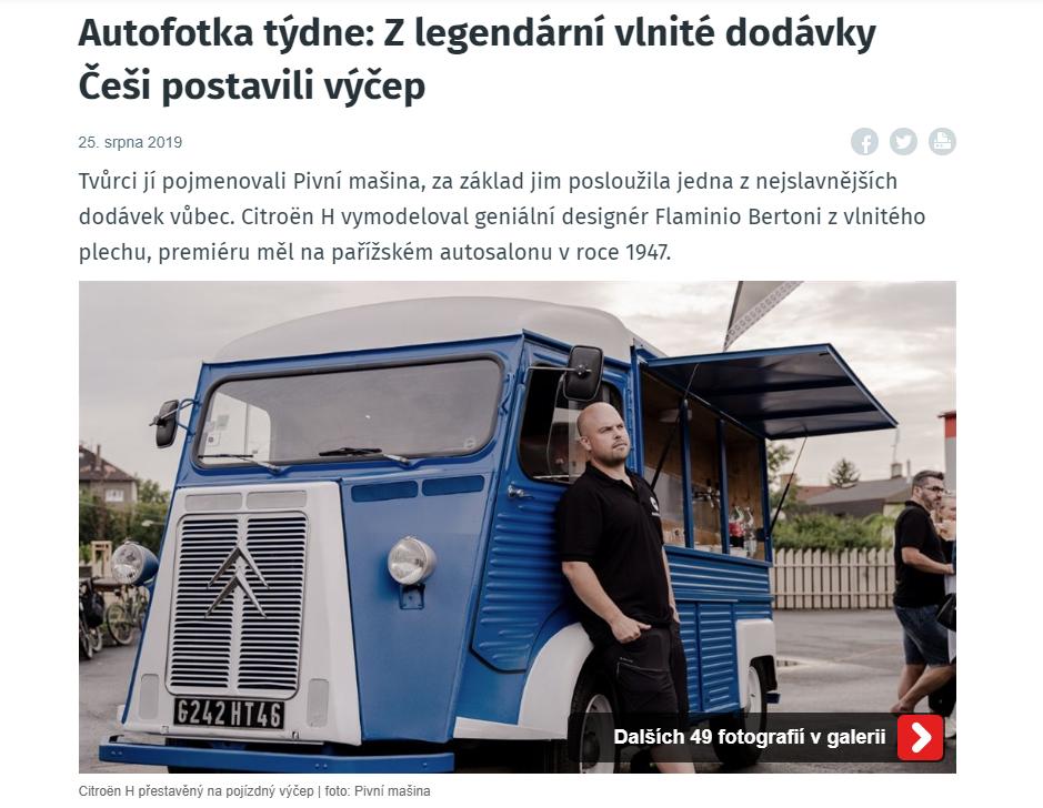 /iDNES.CZ/ – Autofotka týdne: Z legendární vlnité dodávky Češi postavili výčep